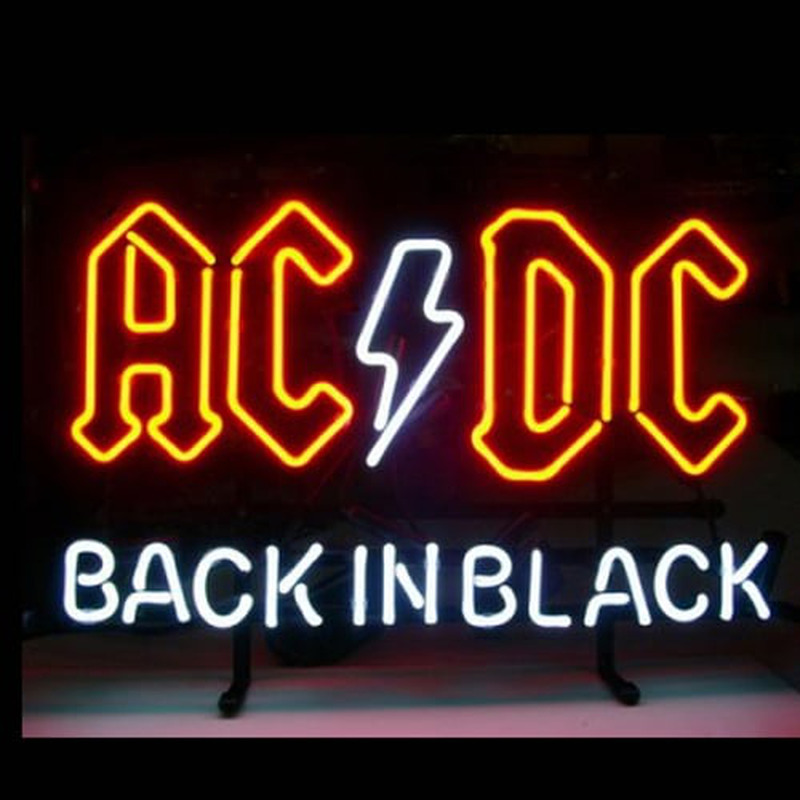 Ac Dc Back In Black Neon Sign Neonsignsus Com
