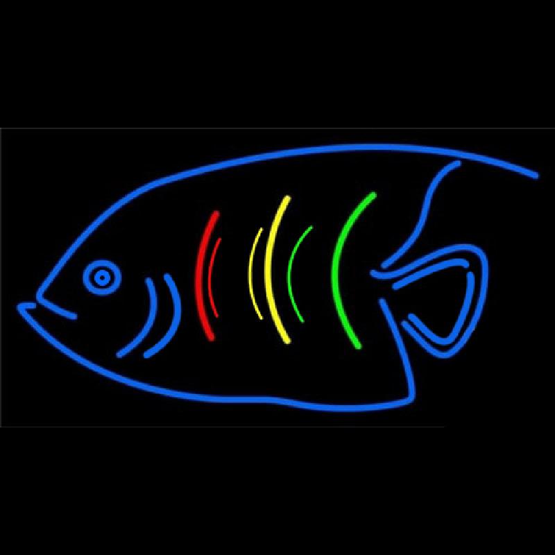 Blue Fish Logo Neon Sign - NeonSignsUS.com - photo#29