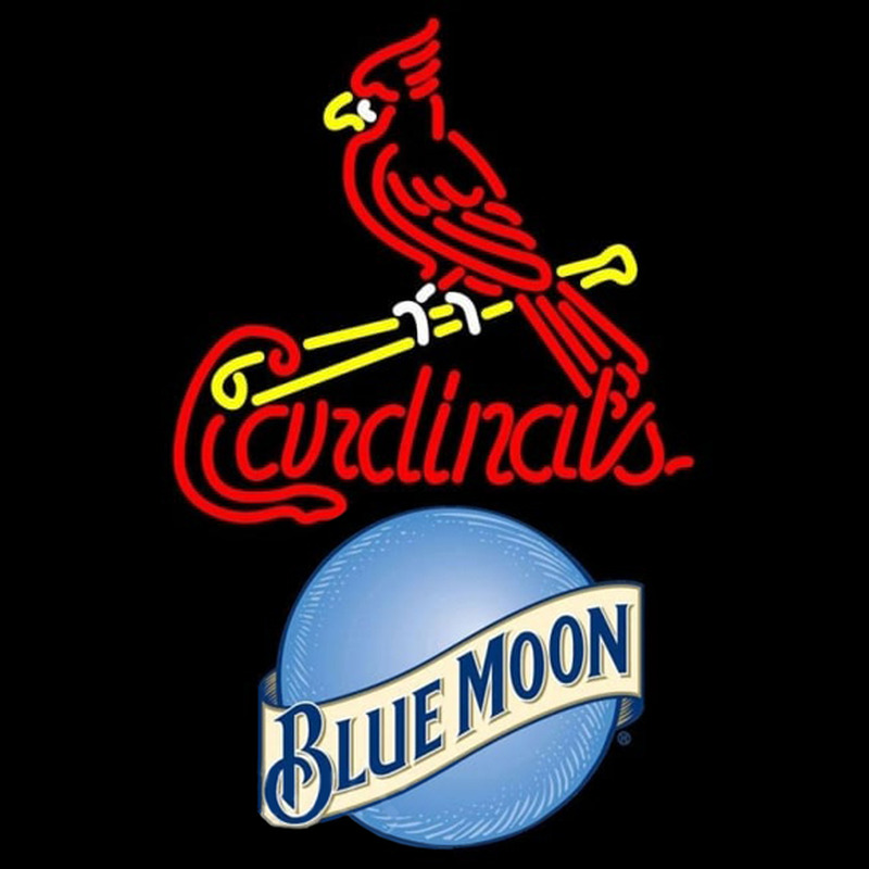 Blue Moon St Louis Cardinals MLB Beer Sign Neon Sign