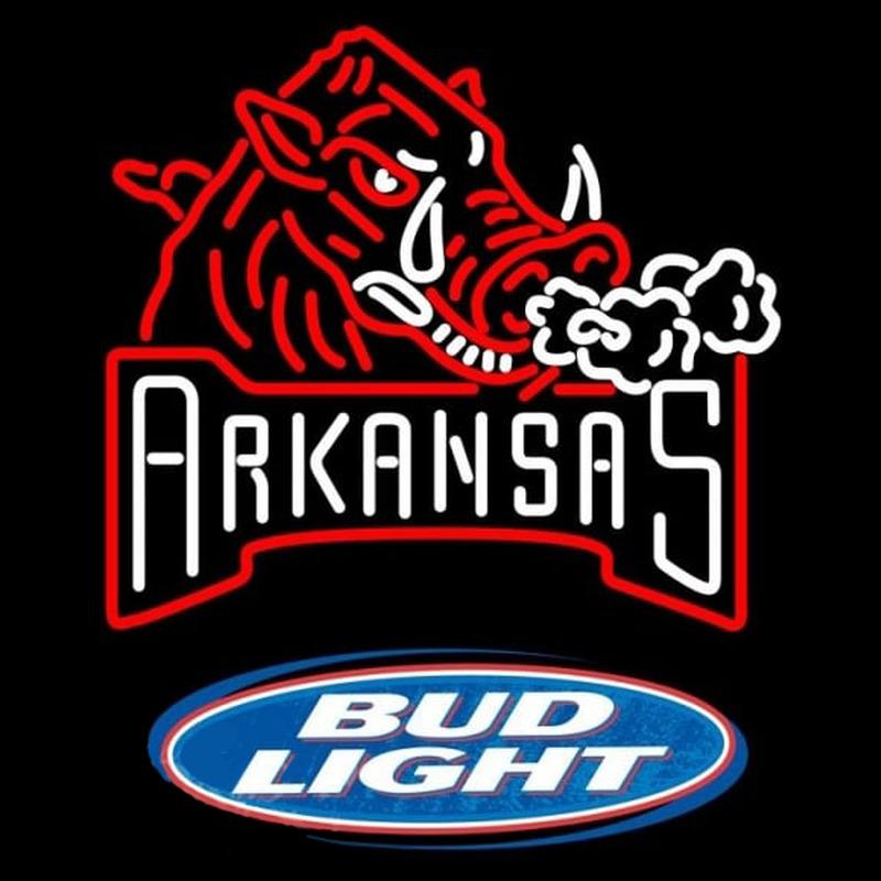 Bud Light Logo Arkansas Razorbacks Beer Sign Neon Sign