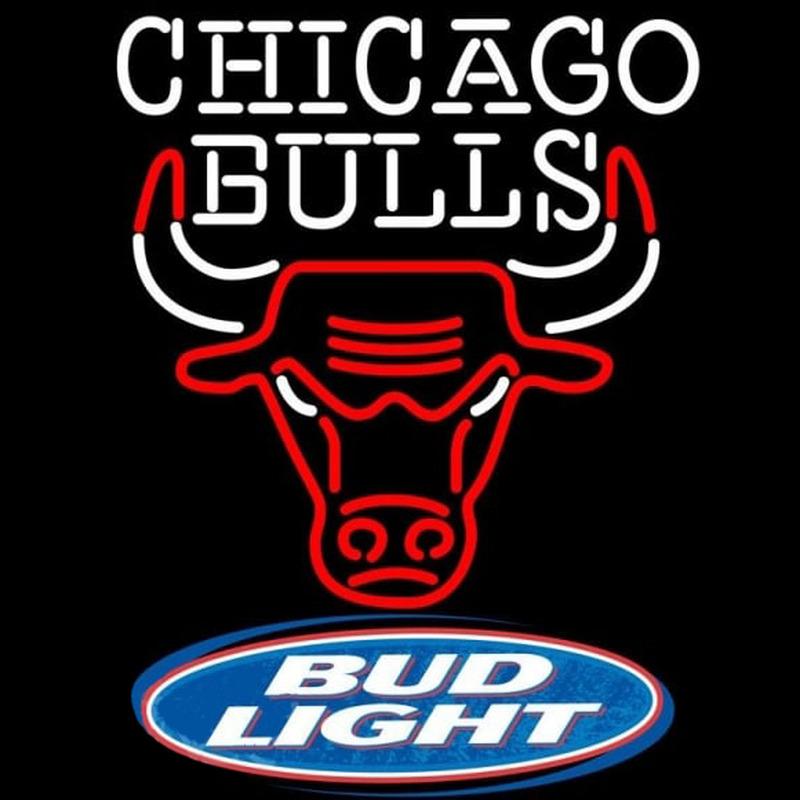 Bud Light Logo Chicago Bulls NBA Beer Sign Neon Sign