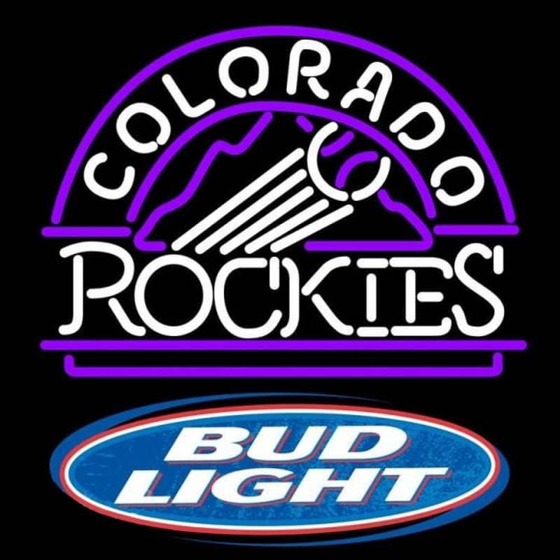 Bud Light Logo Colorado Rockies MLB Beer Sign Neon Sign