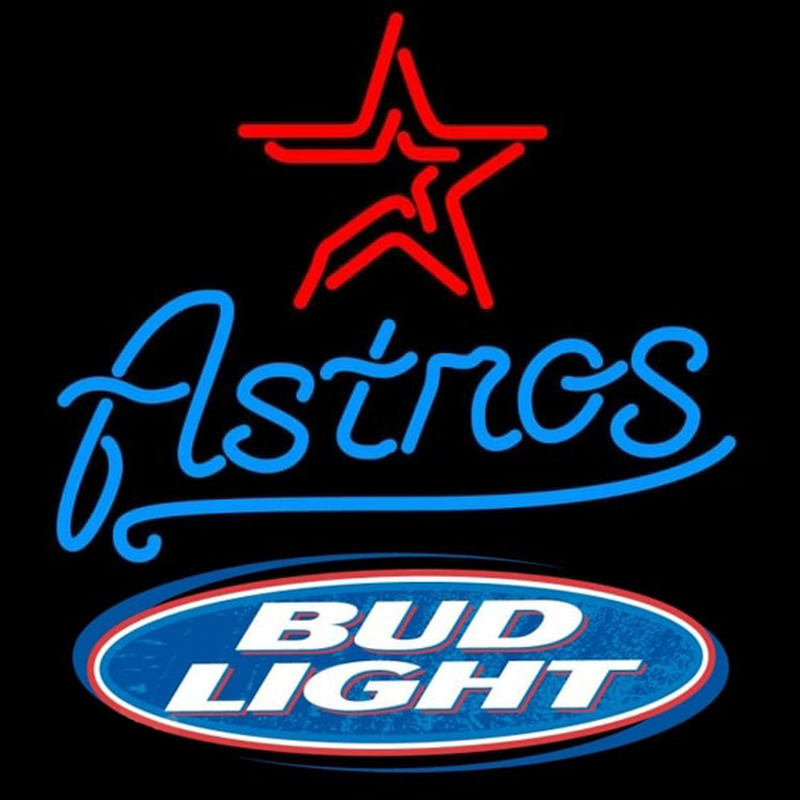 Bud Light Logo Houston Astros Mlb Beer Sign Neon Sign Neonsignsus