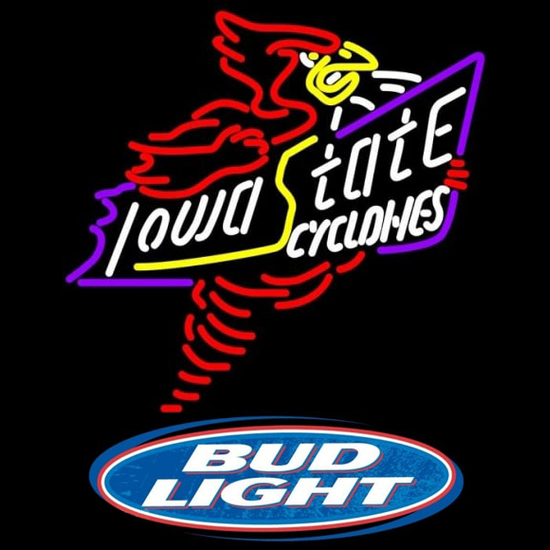 Bud Light Logo Killer Iowa State Cyclones Beer Sign Neon Sign