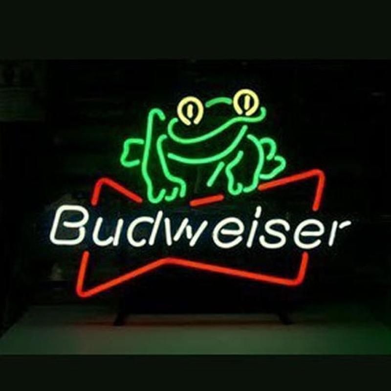 Budweiser Beer Frog Neon Sign Neonsignsus Com
