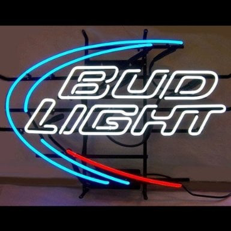 Budweiser Bud Light Beer Bar Handcrafted Neon Sign