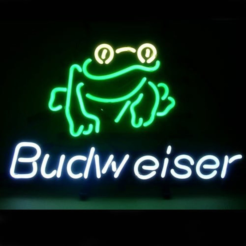 Budweiser Frog Neon Sign Neonsignsus Com
