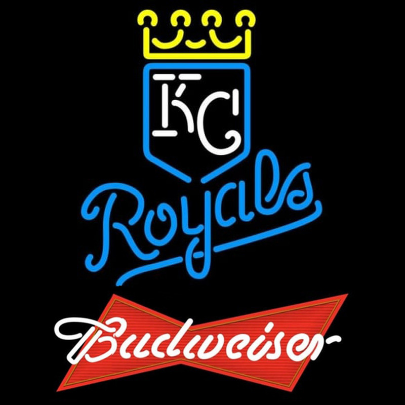 Budweiser Red Kansas City Royals MLB Beer Sign Neon Sign