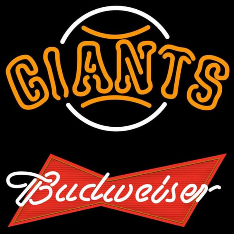 Budweiser Red San Francisco Giants MLB Beer Sign Neon Sign
