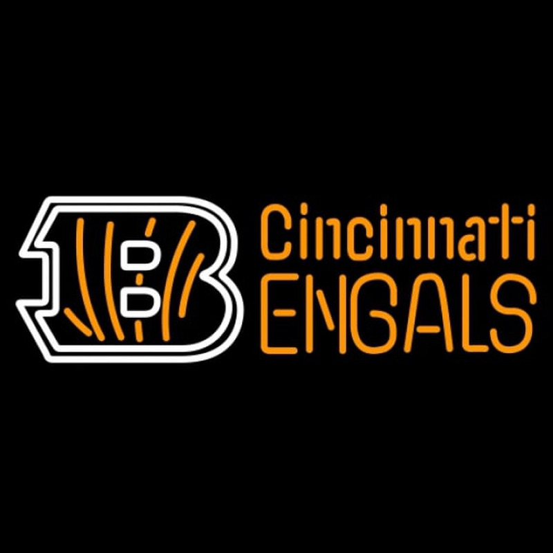 Cincinnati Bengals Big B Name NFL Neon Sign Neon Sign