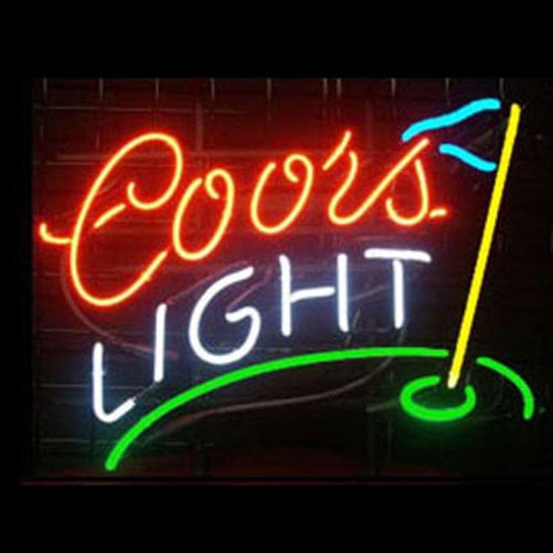 Professional Coors Deer Beer Bar Open Neon Signs: Coors Light Golf Neon Sign