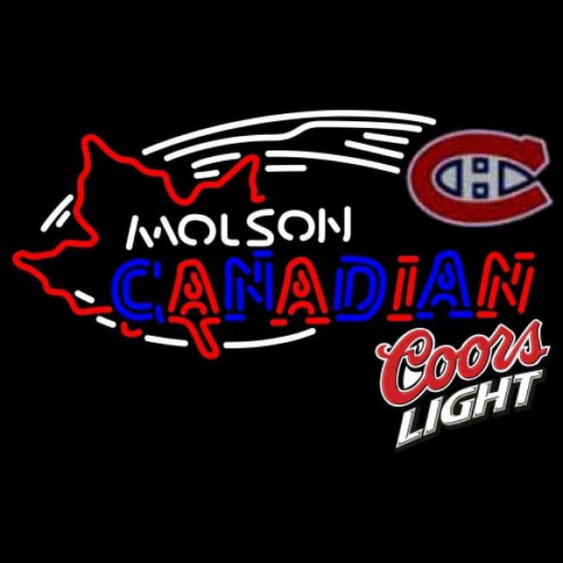 Coors Light Molson Montreal Canadiens Hockey Beer Sign Neon Sign
