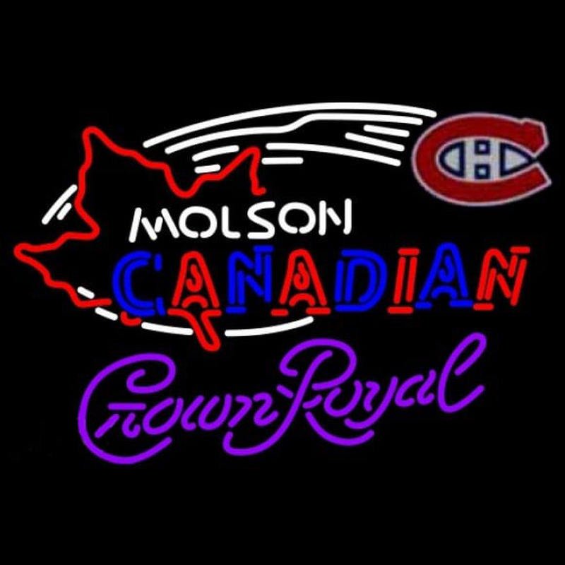 Crown Royal Molson Montreal Canadiens Hockey Beer Sign Neon Sign