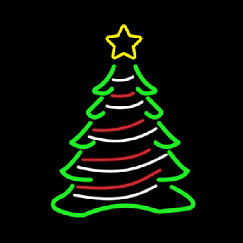 Decorative Christmas Tree Neon Sign