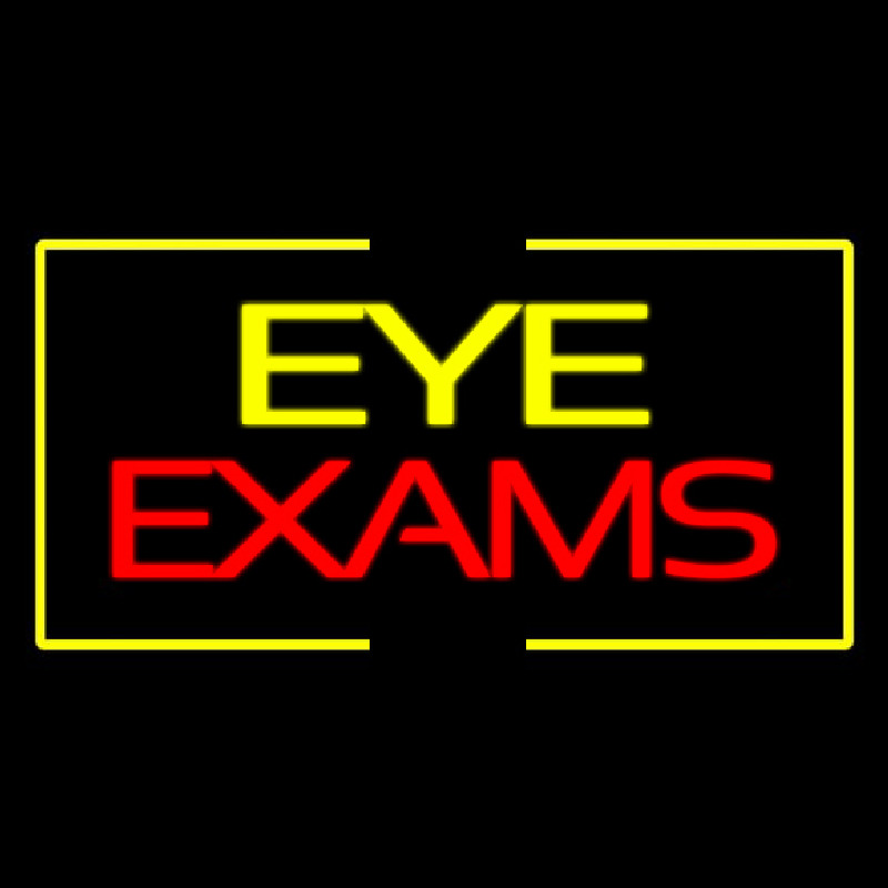 Eye E am With Yellow Border Neon Sign