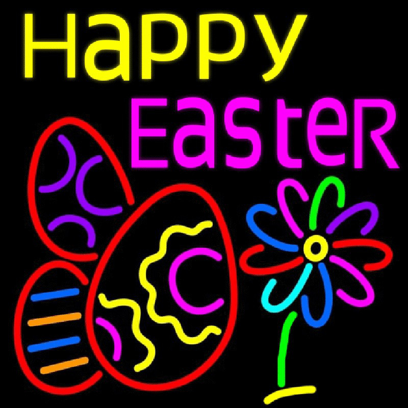 Happy Easter Egg 1 Neon Sign