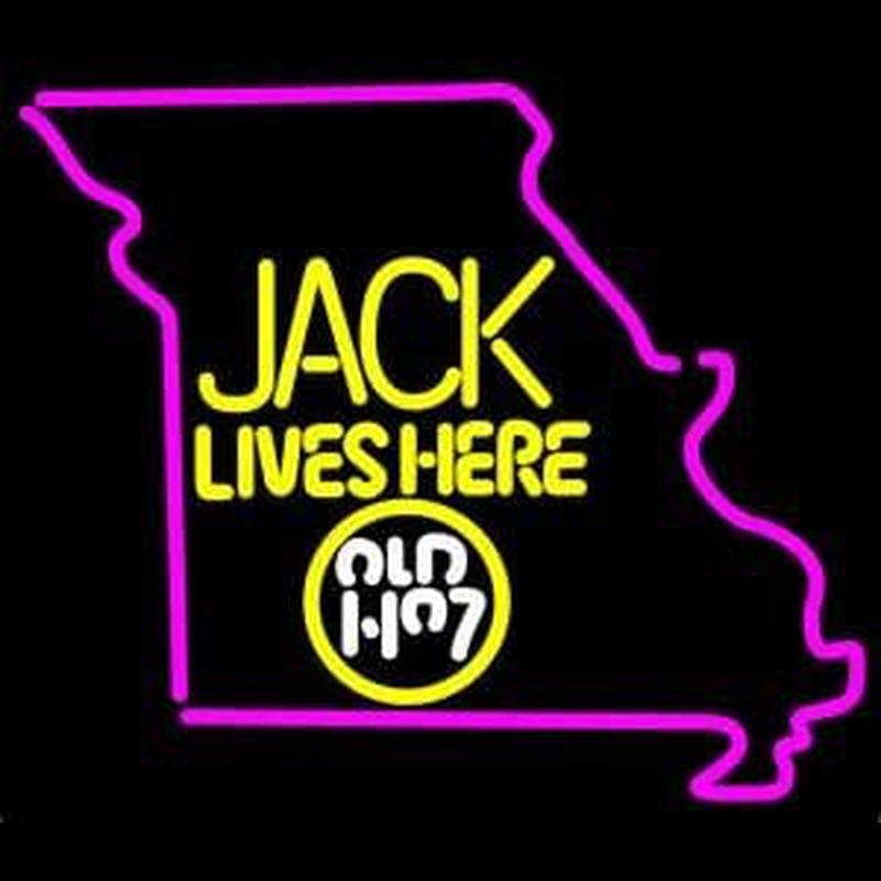 Jack Daniels Jack Lives Here Missouri Whiskey Neon Sign