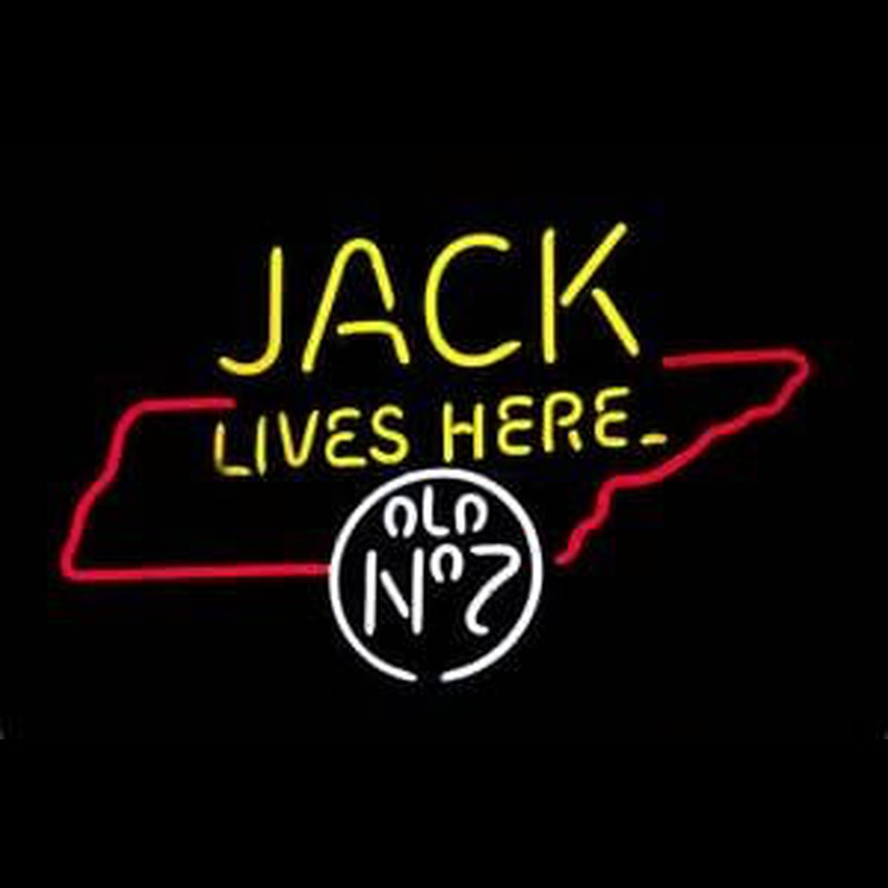 Jack Daniels Jack Lives Here Tennessee Whiskey Neon Sign