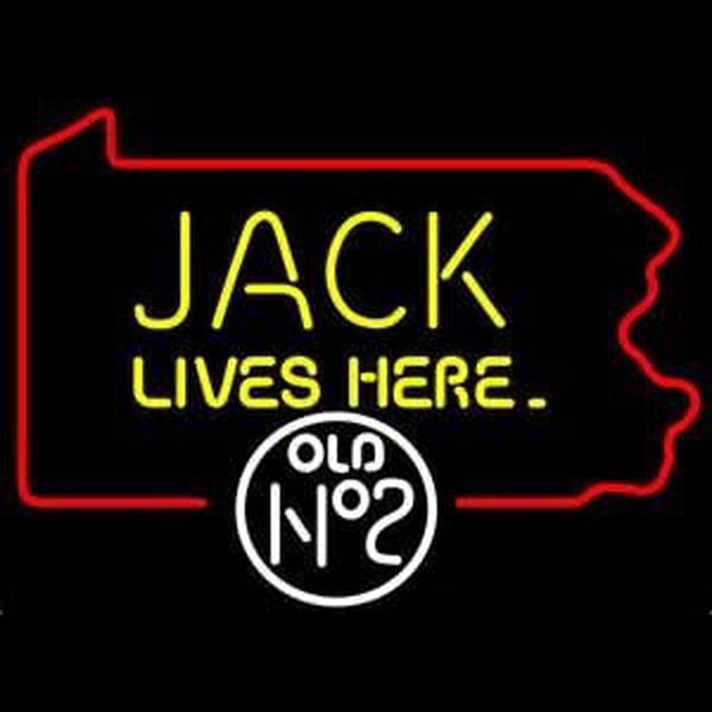 Jack Daniels Jack Lives here Pennsylvania Whiskey Neon