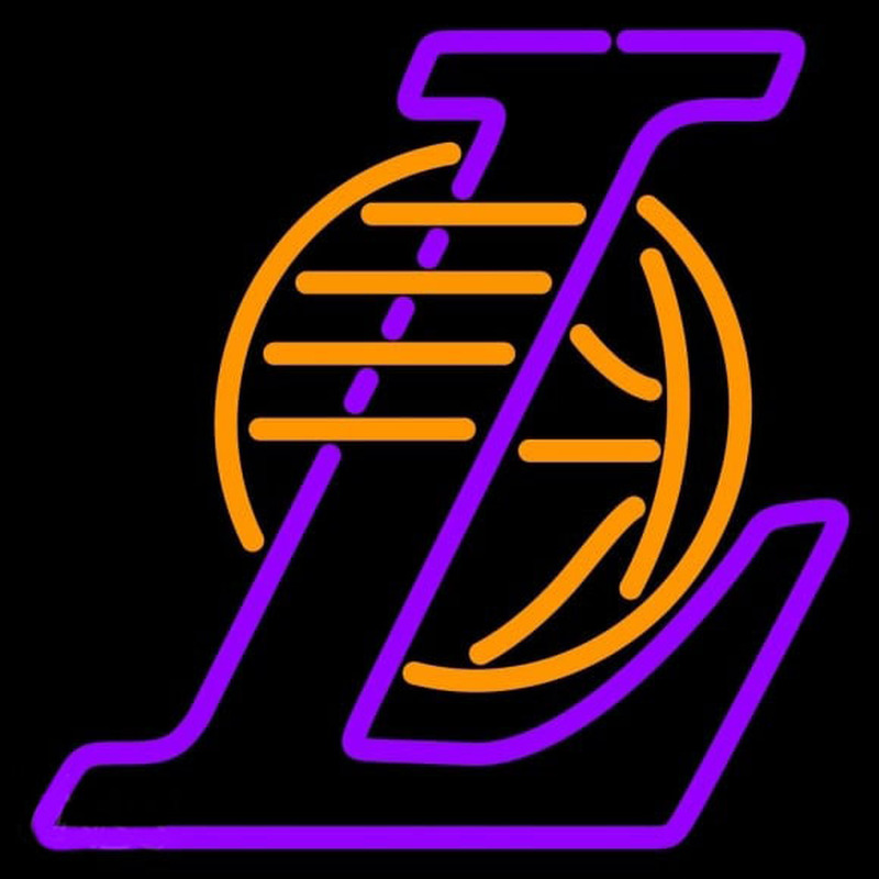 Los Angeles Lakers Alternate 2001 02 Pres Logo NBA Neon Sign Neon Sign