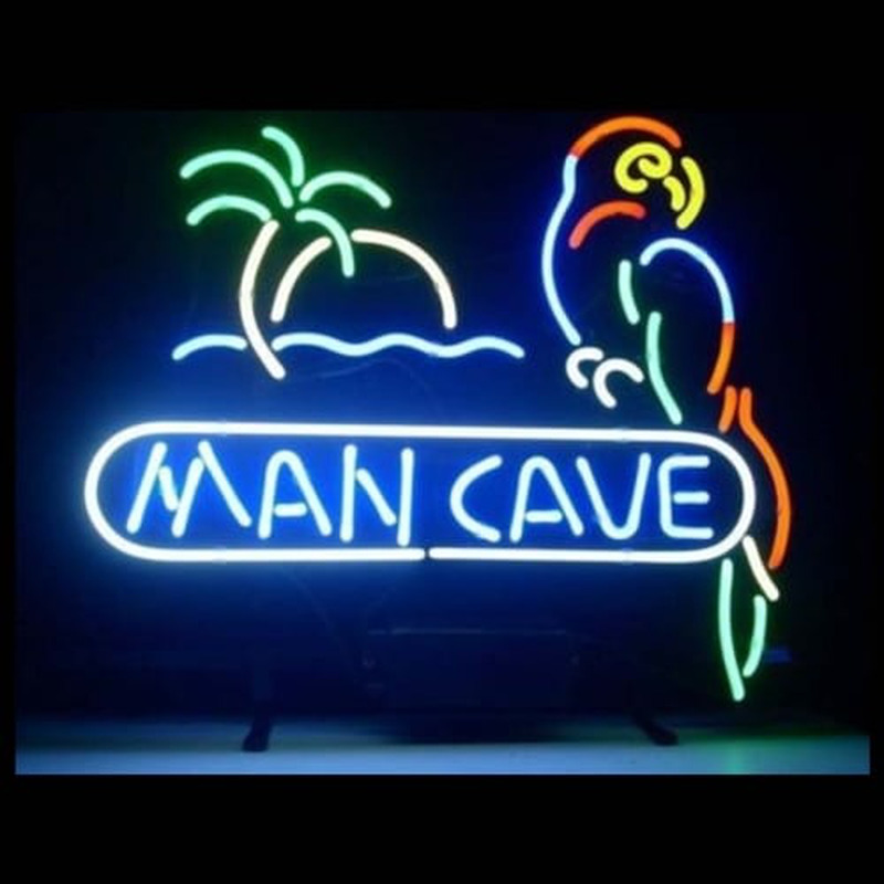 Man Cave Parrot Neon Sign
