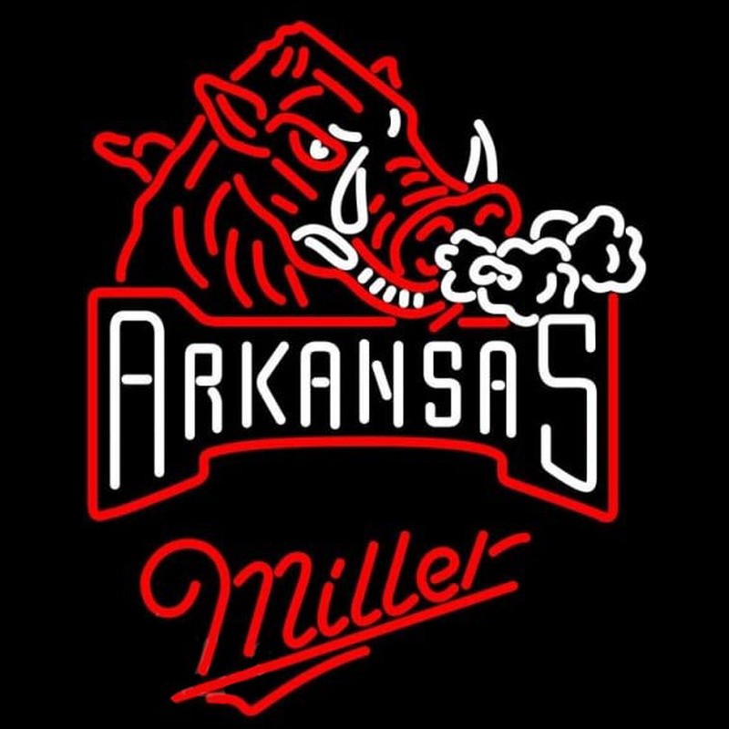Miller Arkansas Razorbacks Beer Sign Neon Sign