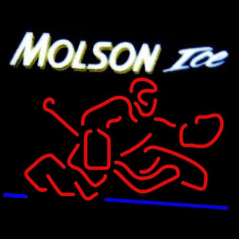 Molson Ice Goalie Neon Sign Neonsignsus Com