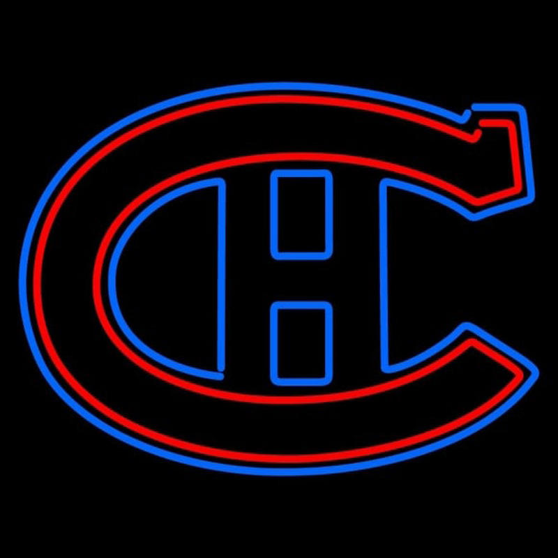 Montreal Canadiens Primary 1925 26 1934 35 Logo NHL Neon Sign Neon Sign