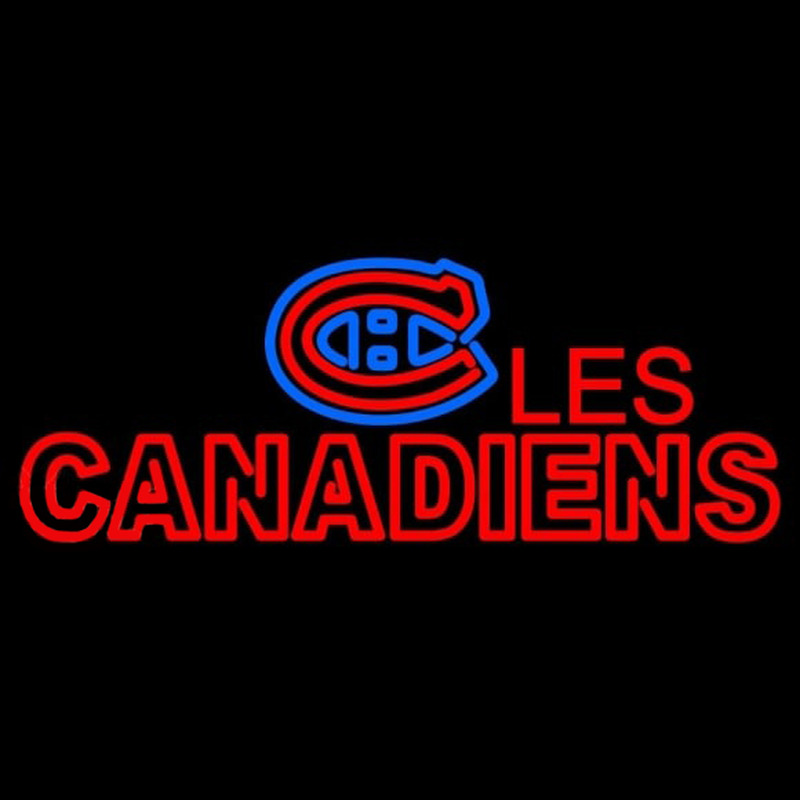 Montreal Canadiens Wordmark 1956 57 Pres Logo NHL Neon Sign Neon Sign
