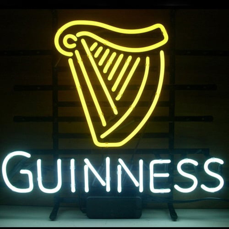 New Guinness Irish Lager Ale Harp Neon Sign