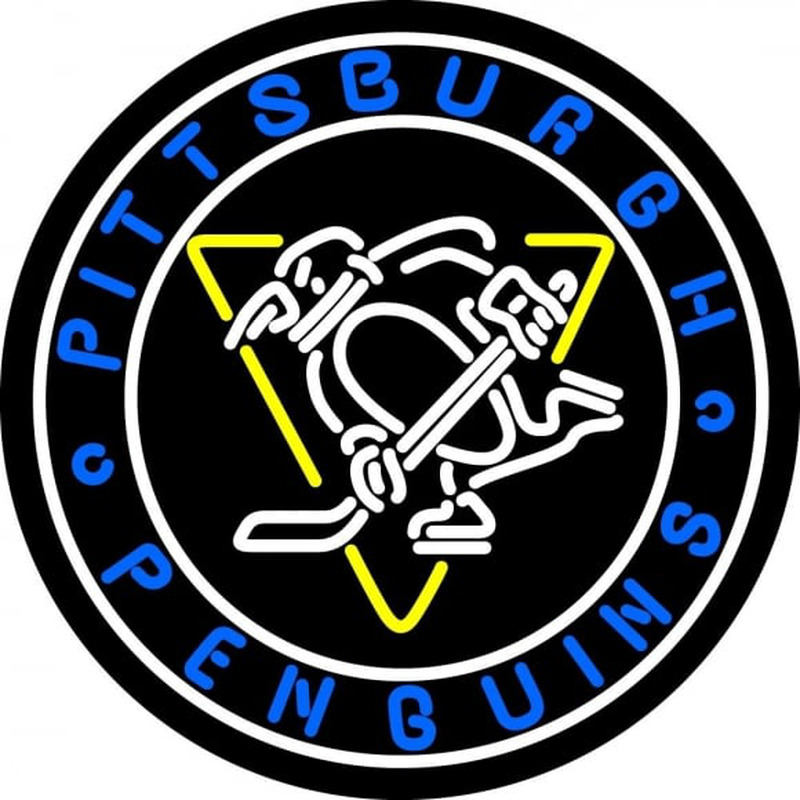 Pittsburgh Penguins Primary 1967 68 Logo Nhl Neon Sign