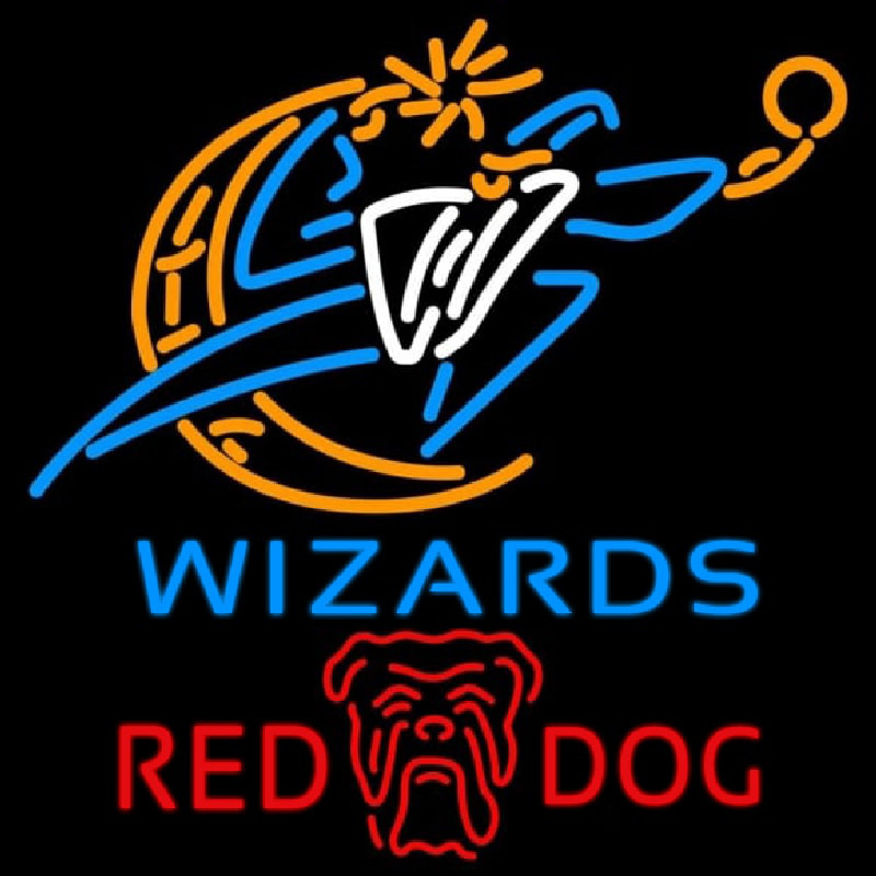 Red Dog Washington Wizards NBA Beer Sign Neon Sign