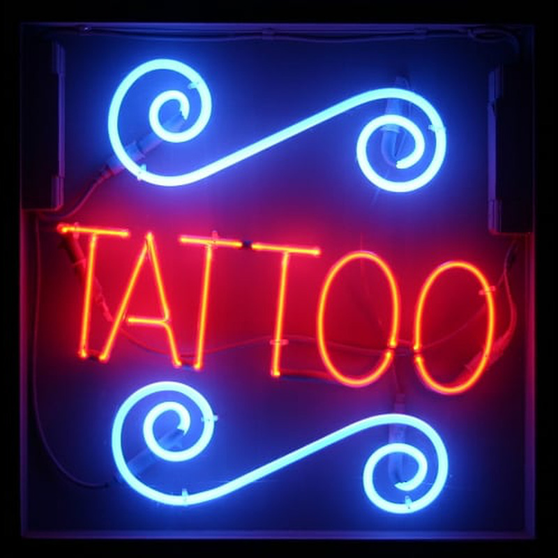 Tattoo neon sign for Neon tattoo signs