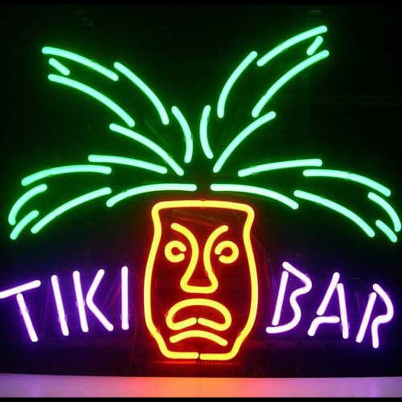 Tiki Bar Paradise Palm Neon Sign