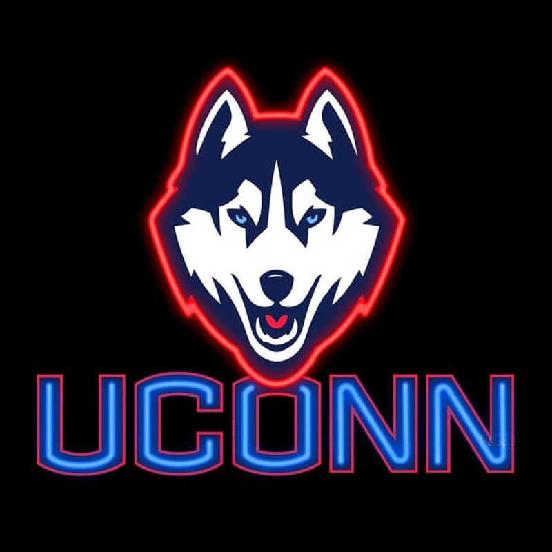 University of Connecticut UConn Huskies Real Neon Glass Tube Neon Signs Neon Sign