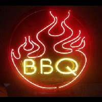 Flames BBQ Neon Sign