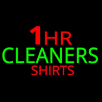 1 Hr Cleaners Shirt Neon Sign