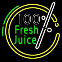 100 Percent Fresh Juice Neon Sign