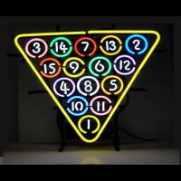 15 Ball Billiards Pool Neon Sign