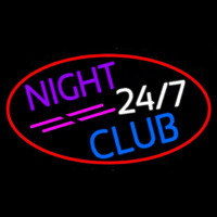 24 7 Night Club Neon Sign