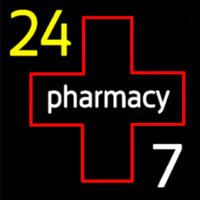 24 Pharmacy Neon Sign
