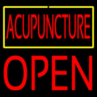 Acupuncture Block Open Neon Sign