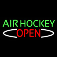 Air Hockey Open Real Neon Glass Tube Neon Sign