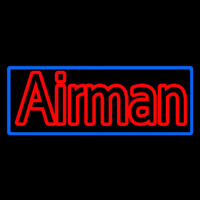 Airman With Blue Border Neon Sign