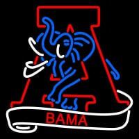 Alabama Crimson Tide Secondary Logo NCAA Neon Sign Neon Sign