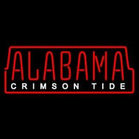 Alabama Crimson Tide Wordmark Pres Logo NCAA Neon Sign Neon Sign