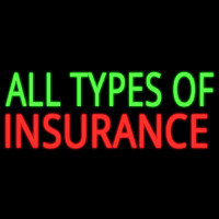 All Types Of Insurance Neon Sign