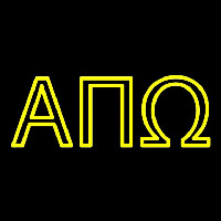 Alpha Pi Omega Neon Sign