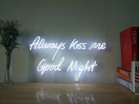 Always Kiss Me Good Night Neon Sign