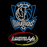 Amstel Light Dallas Mavericks NBA Beer Sign Neon Sign